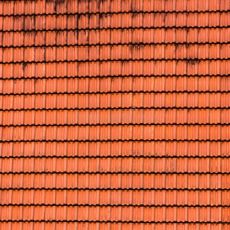 Struttura coperta di tegoli del tetto. fotografia stock libera da diritti