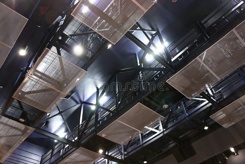 Struttura d'acciaio del soffitto del teatro immagini stock