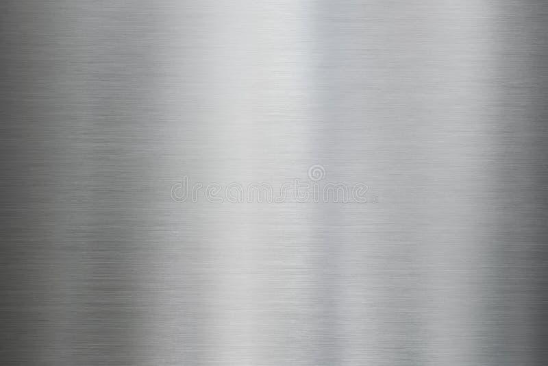 Struttura d'acciaio o di alluminio spazzolata metallo fotografie stock libere da diritti