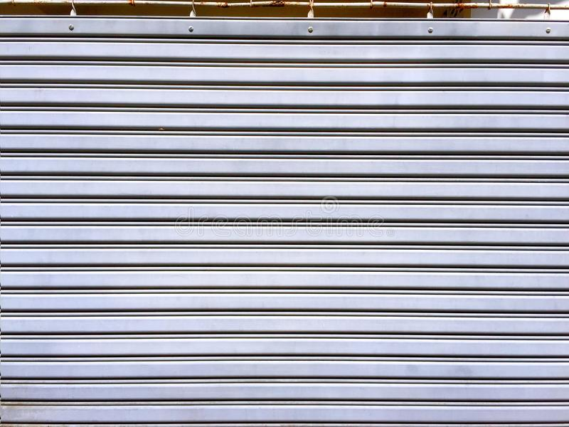 Struttura d'acciaio piegante della porta fotografie stock