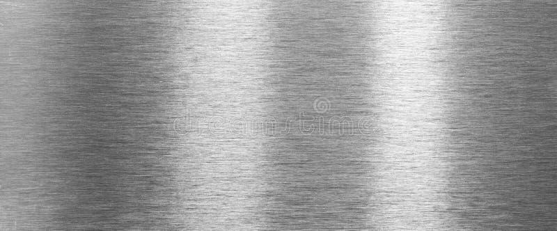 Struttura d'acciaio spazzolata brillante del metallo fotografie stock