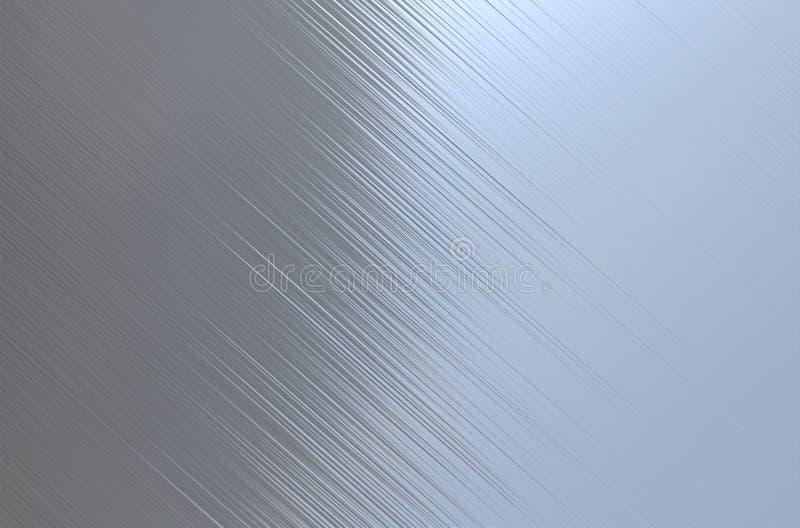 Struttura d'acciaio spazzolata del metallo fotografia stock