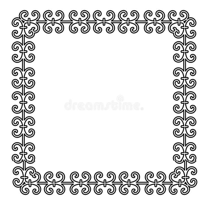 Struttura d'annata con l'ornamento elegante per le vostre progettazioni Immagine di vettore illustrazione di stock