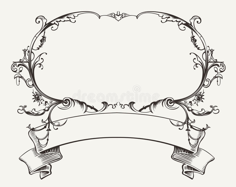 Struttura d'annata con l'ornamento floreale illustrazione di stock