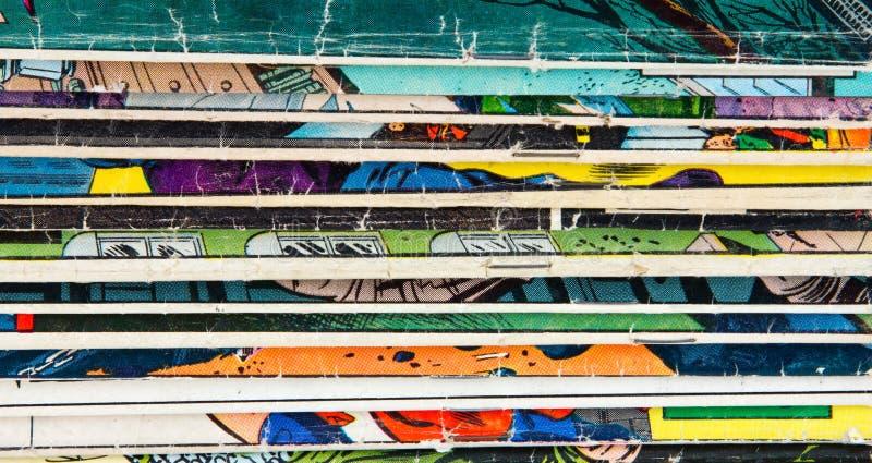 Struttura d'annata del fondo del libro di fumetti fotografia stock libera da diritti
