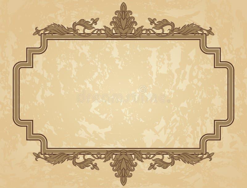 Struttura d'annata dell'ornamento illustrazione di stock