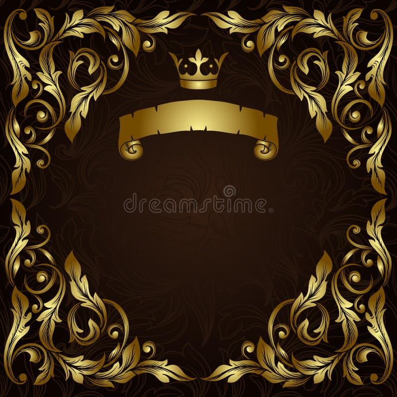 Struttura d'annata dell'oro royalty illustrazione gratis