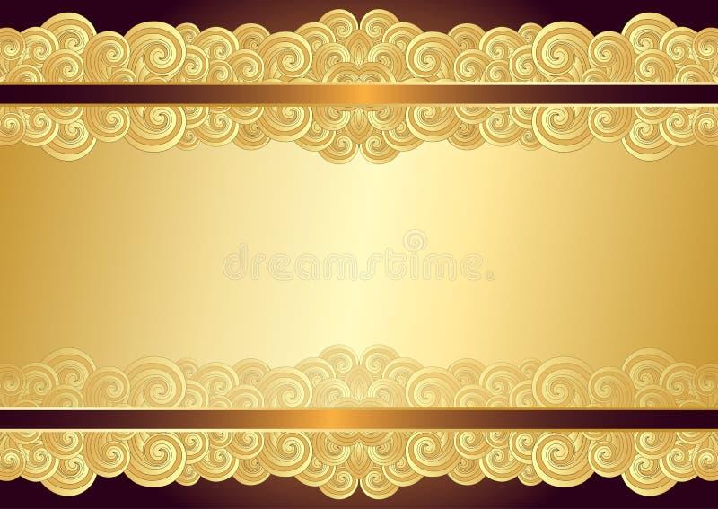 Struttura d'annata dell'oro con il posto per il testo illustrazione di stock