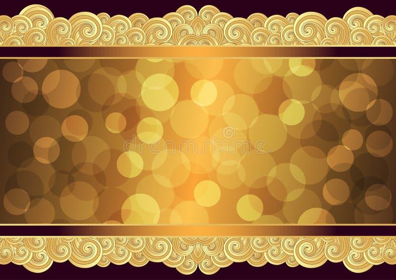 Struttura d'annata dell'oro con il posto per il testo, vettore ENV 10 illustrazione di stock