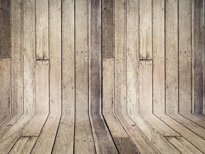 Struttura d'annata di vecchia prospettiva di legno del fondo con spazio immagini stock