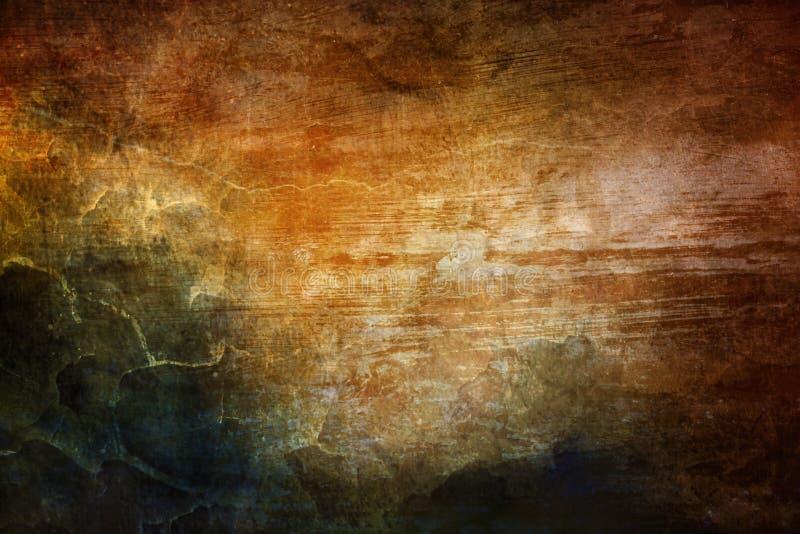 Struttura d'annata nebbiosa variopinta dell'estratto artistico come fondo illustrazione vettoriale
