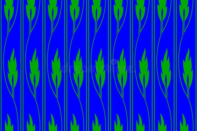 Struttura dai gambi ricci con le foglie verdi fotografia stock libera da diritti