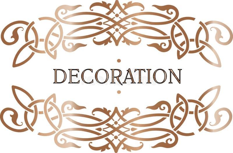 Struttura decorata della decorazione dell'oro royalty illustrazione gratis