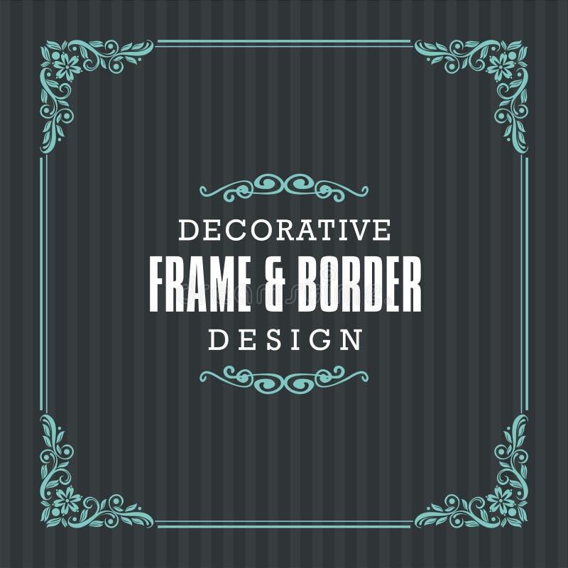 Struttura decorativa, confine con la linea stile ornamentale illustrazione di stock