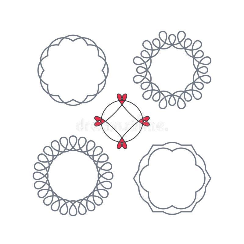 Struttura decorativa del cerchio di vettore con i turbinii illustrazione di stock