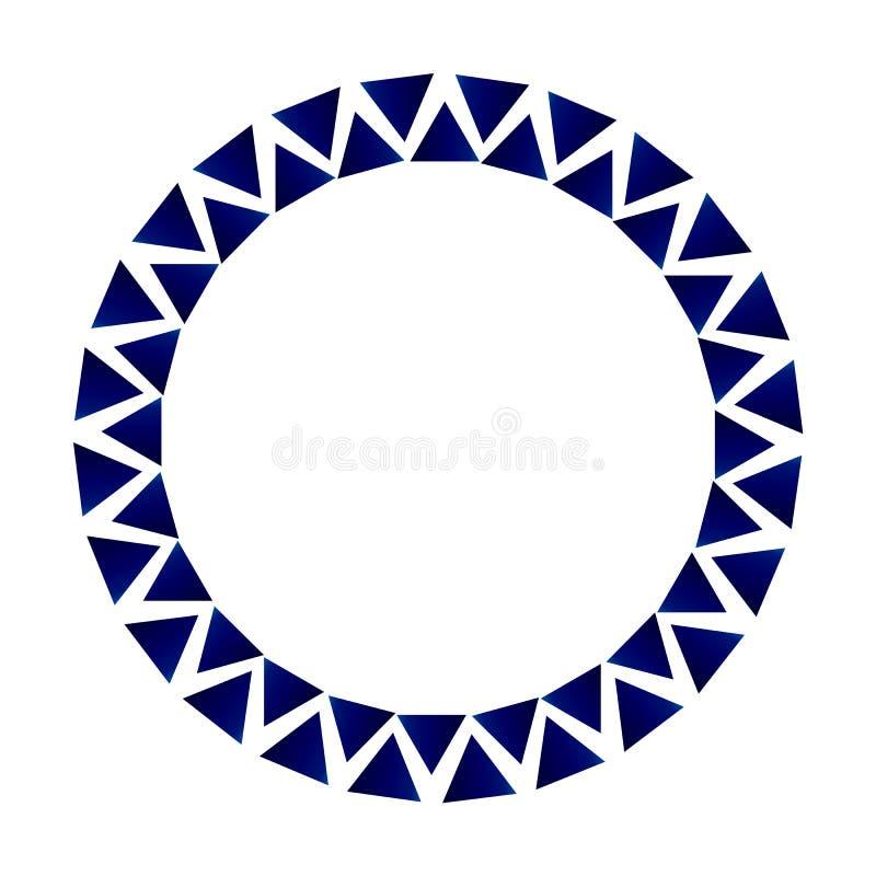 Struttura decorativa del cerchio del triangolo illustrazione di stock