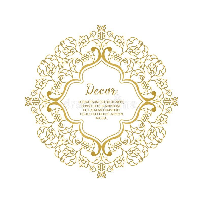 Struttura decorativa ornamentale dell'oro di vettore royalty illustrazione gratis