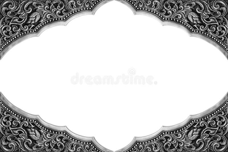 Struttura degli elementi dell'ornamento, floreale d'argento d'annata fotografie stock libere da diritti