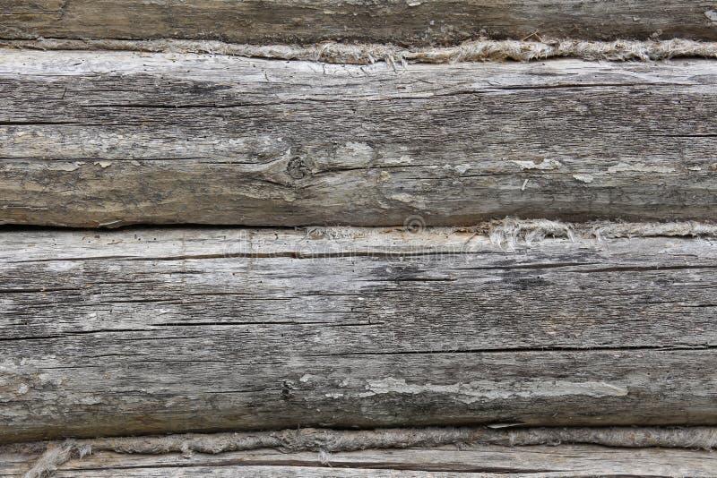 Struttura dei bordi di legno con le strisce di tessuto immagini stock libere da diritti