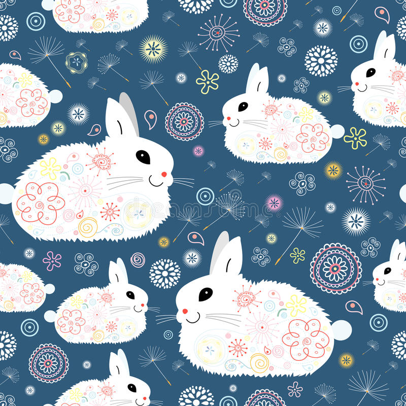 Struttura dei coniglietti illustrazione di stock