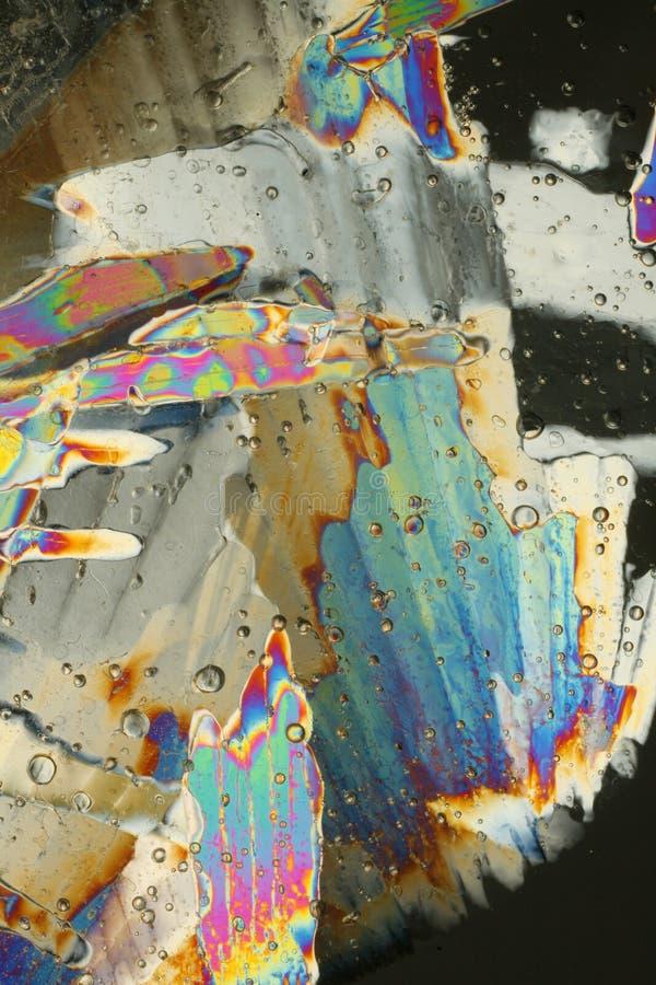 Struttura dei cristalli di ghiaccio fotografie stock libere da diritti