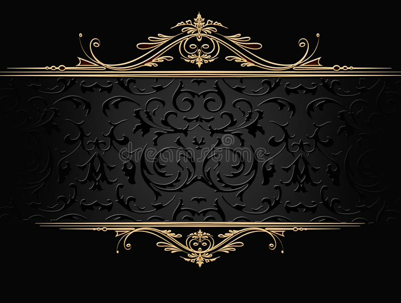 Struttura dei gioielli dell'oro sul nero illustrazione di stock