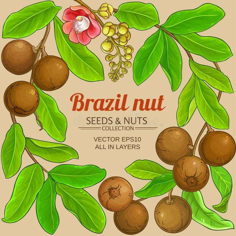 Struttura dei rami della noce del Brasile illustrazione vettoriale