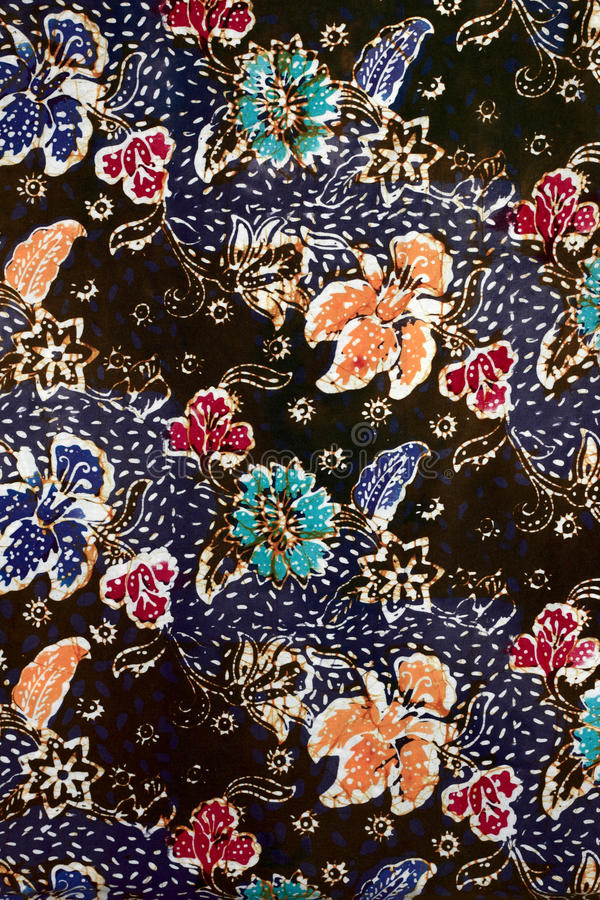 Struttura del batik fatta in Malesia immagini stock libere da diritti