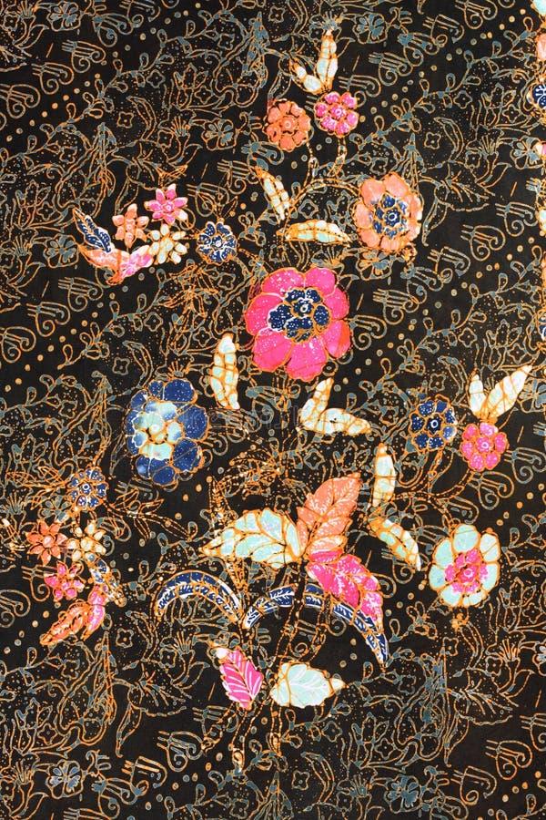 Struttura del batik fatta in Malesia fotografia stock libera da diritti