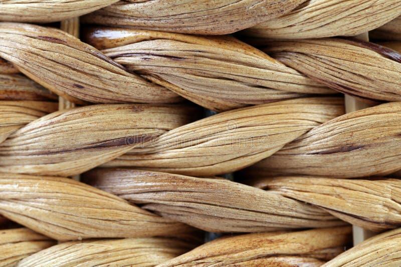 Struttura del canestro di vimini. Fine su. Horisontal. fotografie stock libere da diritti
