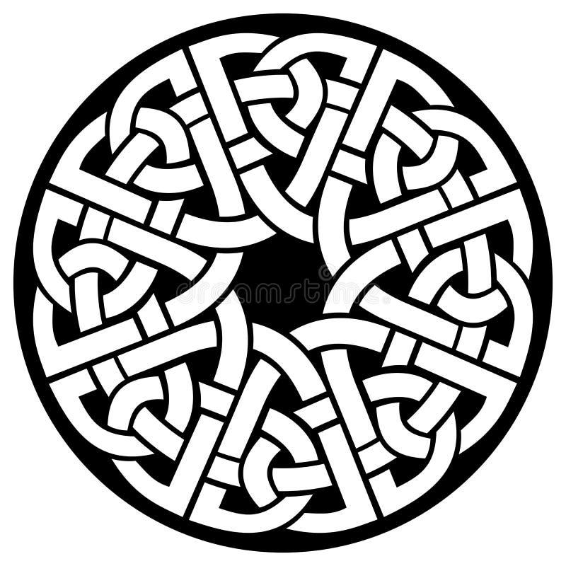 Struttura del celtico del cerchio illustrazione vettoriale
