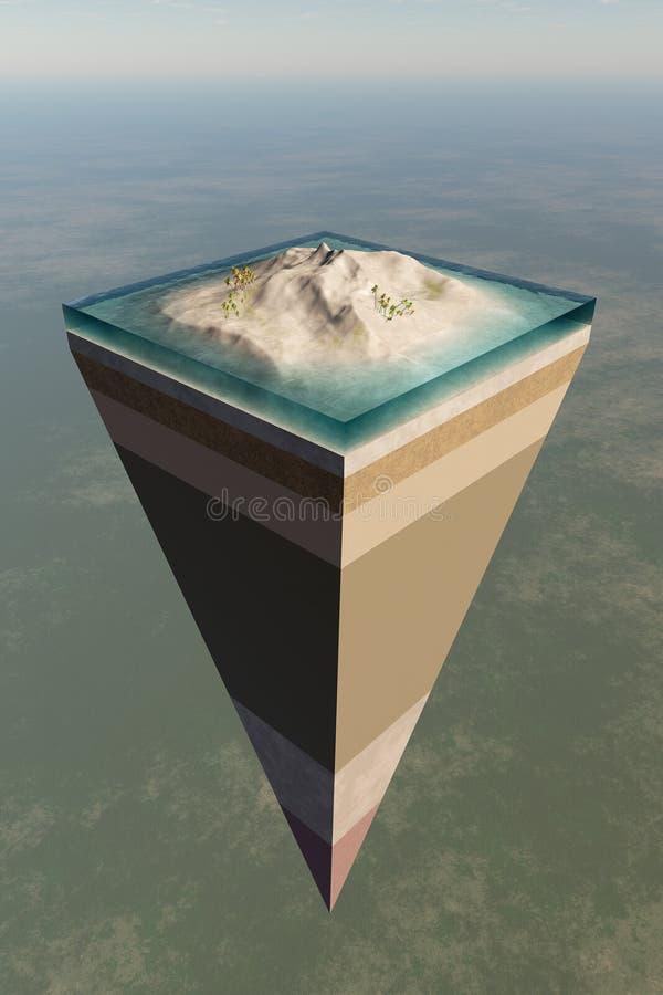 Struttura del centro di terra tagliata illustrazione vettoriale