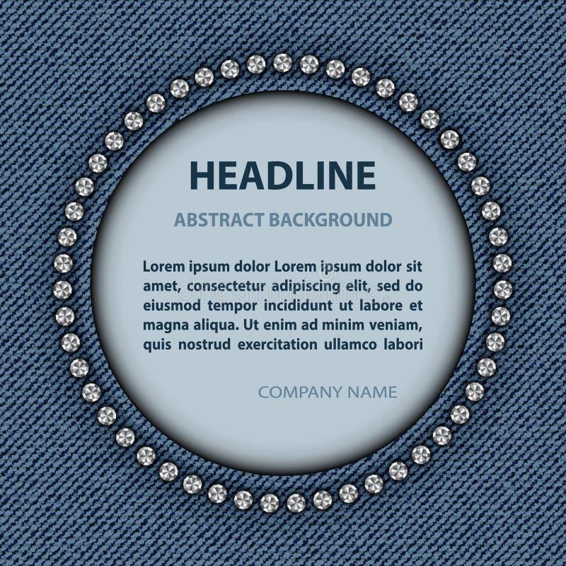 Struttura del cerchio dei jeans immagini stock