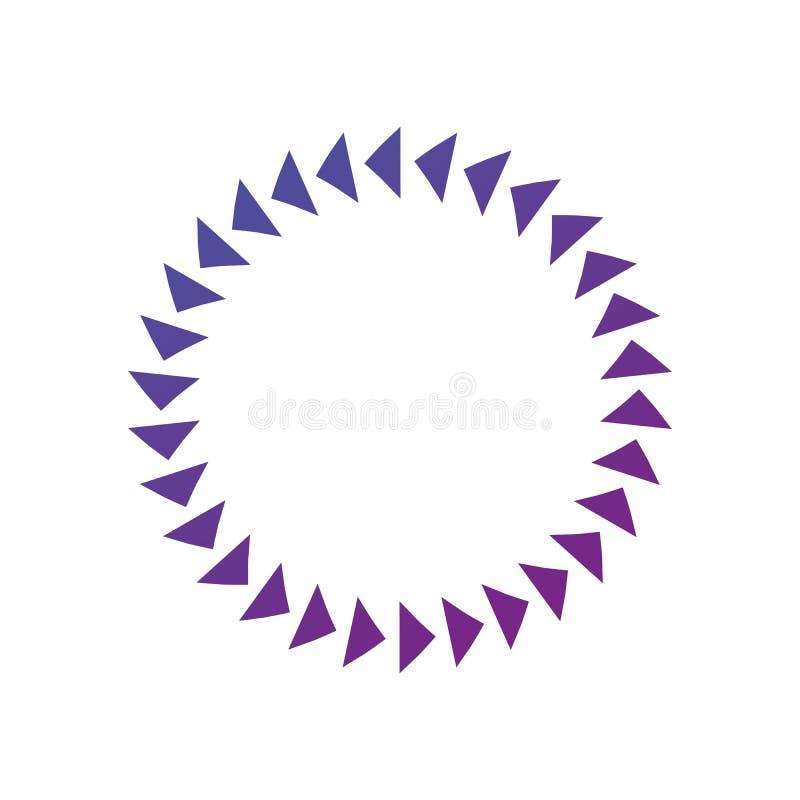 Struttura del cerchio del triangolo, illustrazione rotonda di vettore di progettazione isolata su fondo bianco Pulisca la progett illustrazione vettoriale