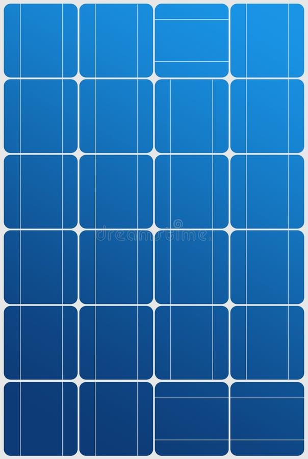 Struttura del comitato solare illustrazione di stock