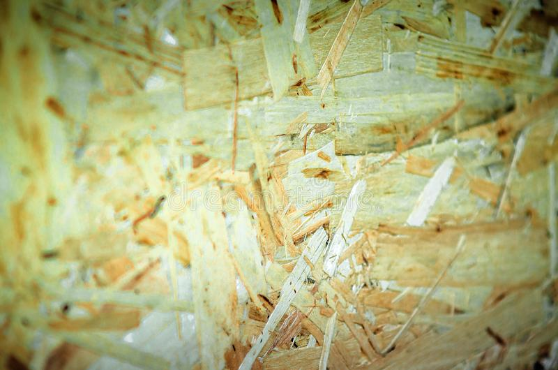 Struttura del compensato Modello del fondo di legno urgente del pannello Primo piano, fuoco selettivo fotografia stock