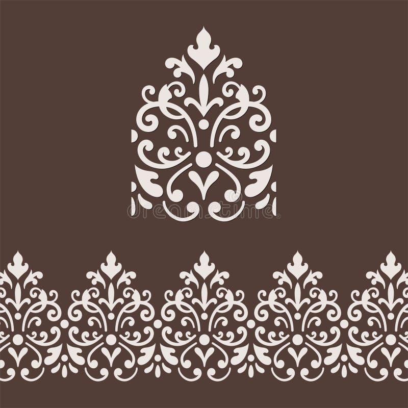 Struttura del confine del damasco royalty illustrazione gratis