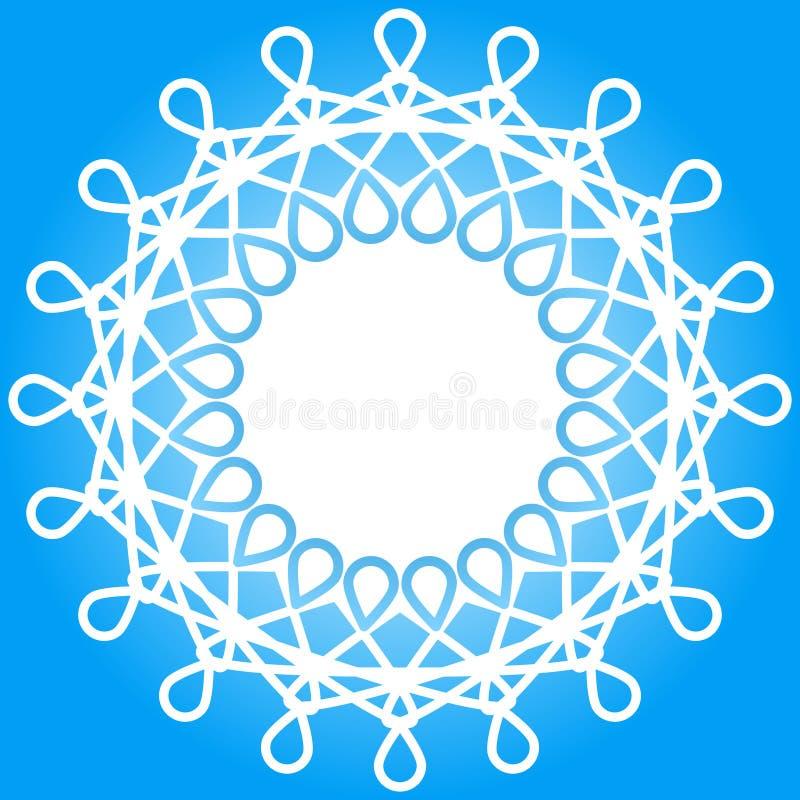 Struttura del confine di inverno del fiocco di neve royalty illustrazione gratis