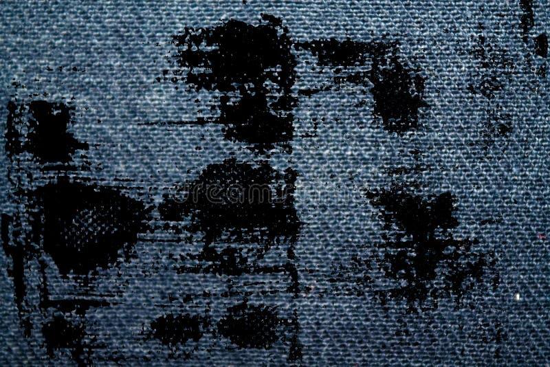 Struttura del denim blu sporco di lerciume macro con la cucitura per il fondo dei jeans illustrazione di stock