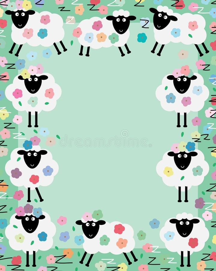 Struttura del fiore del centro delle pecore z illustrazione di stock