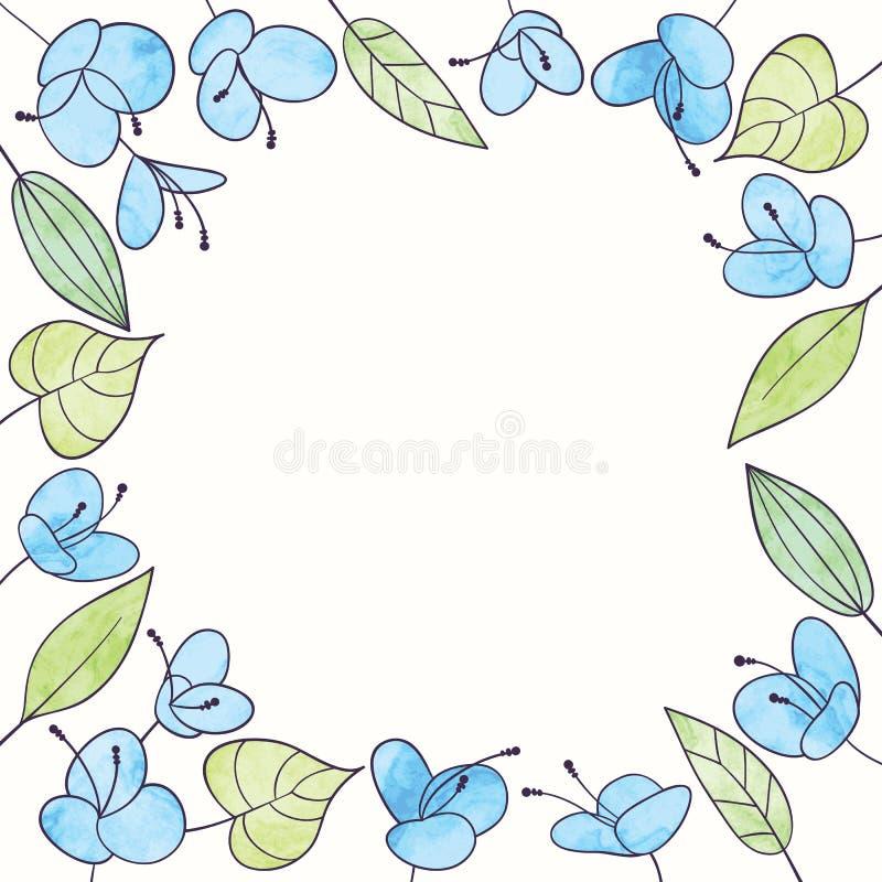 Struttura del fiore dell'acquerello di vettore Illustrazione floreale di tiraggio della mano illustrazione vettoriale
