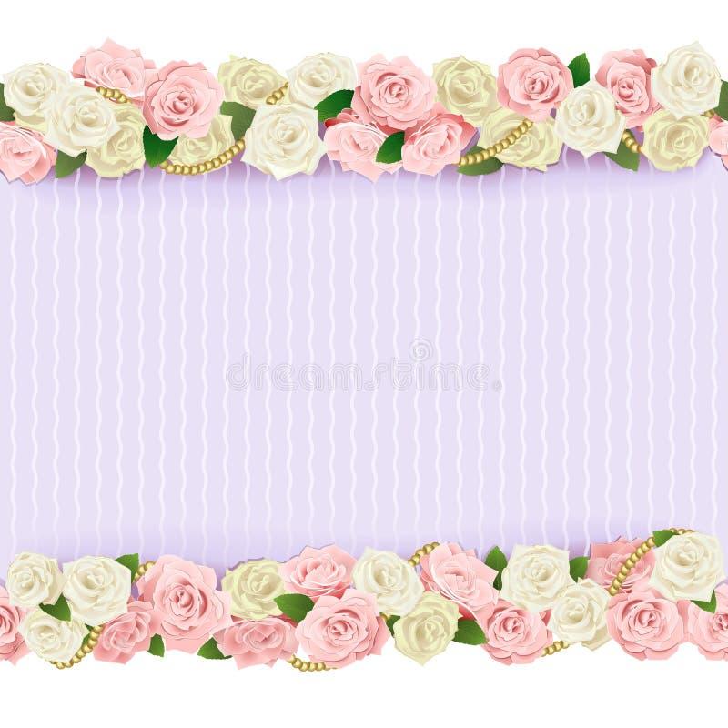 Struttura del fiore di nozze di vettore illustrazione di stock