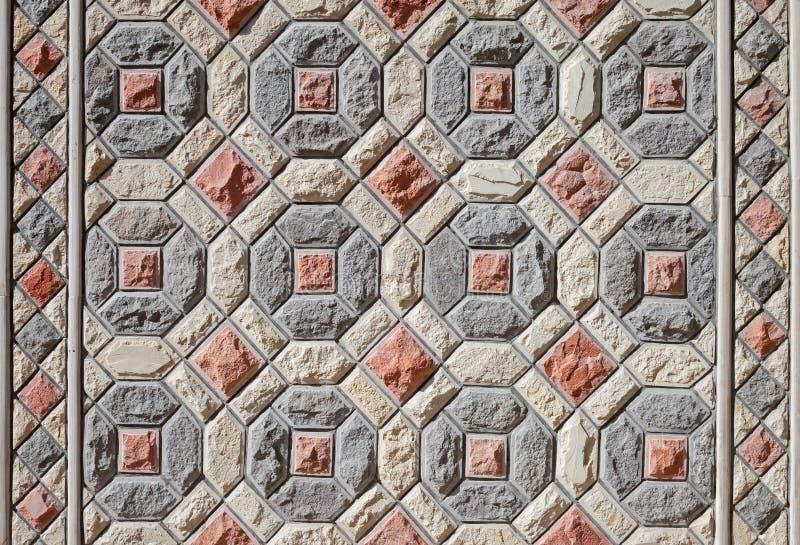 Struttura del fondo del mosaico di pietra orientale fotografie stock