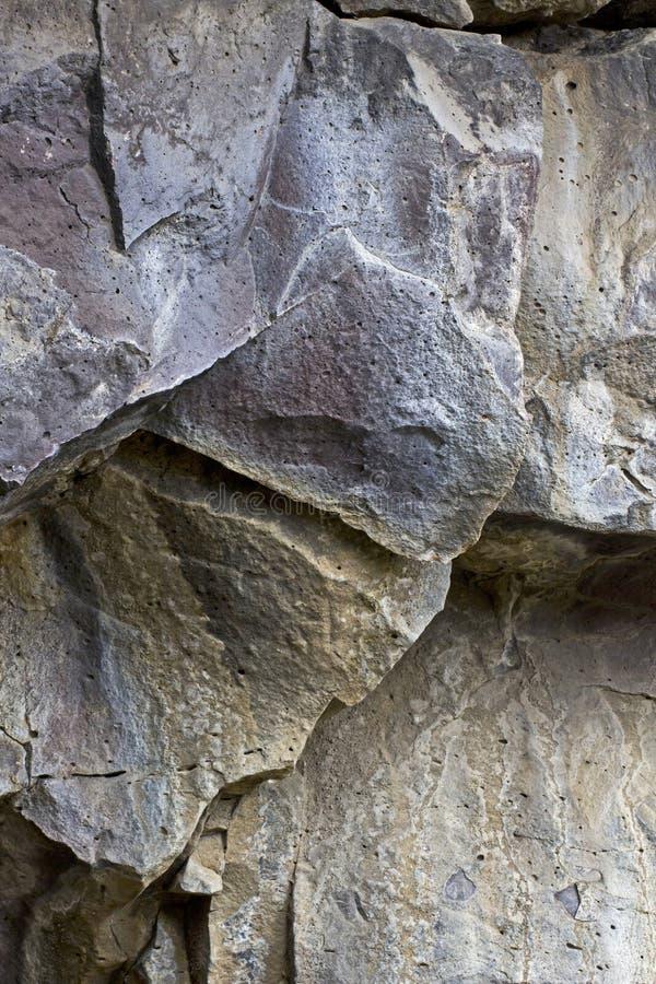 Struttura del fondo di Lava Rock Cave Wall Shards fotografia stock