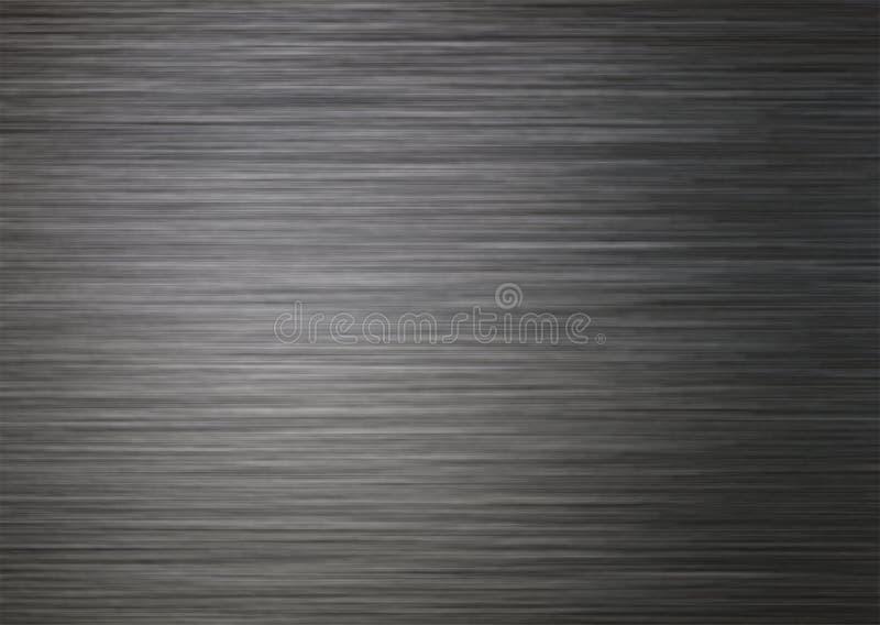 Struttura del fondo di metallo d'argento scuro spazzolato immagini stock