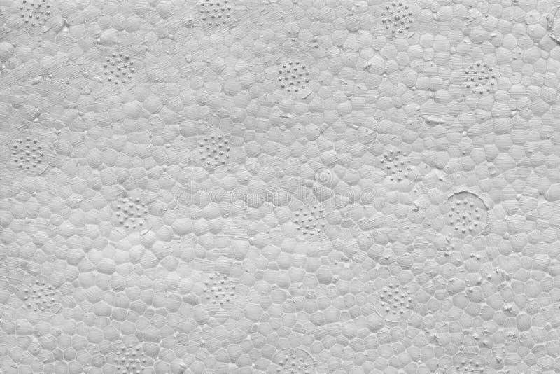 Struttura del fondo di schiuma bianca Struttura del polistirene espanso immagine stock
