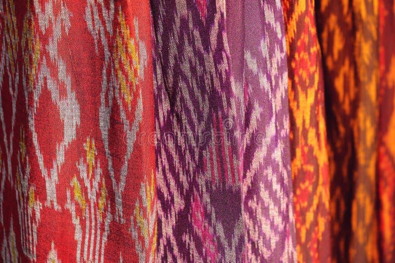 Struttura del fondo del modello del tessuto, stile tailandese indigeno fotografia stock libera da diritti