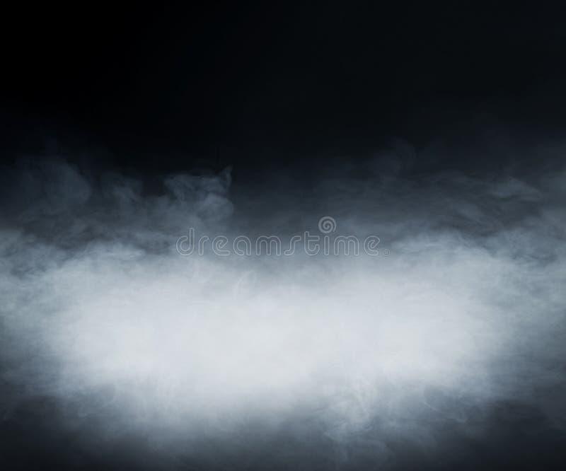 Struttura del fumo sopra fondo nero in bianco immagine stock libera da diritti