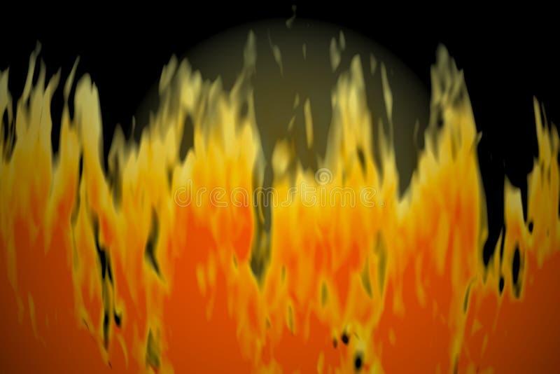 Struttura del fuoco illustrazione vettoriale