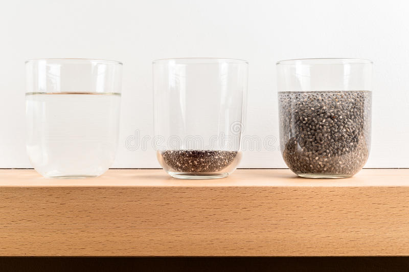 struttura del gel del seme di chia fotografie stock libere da diritti
